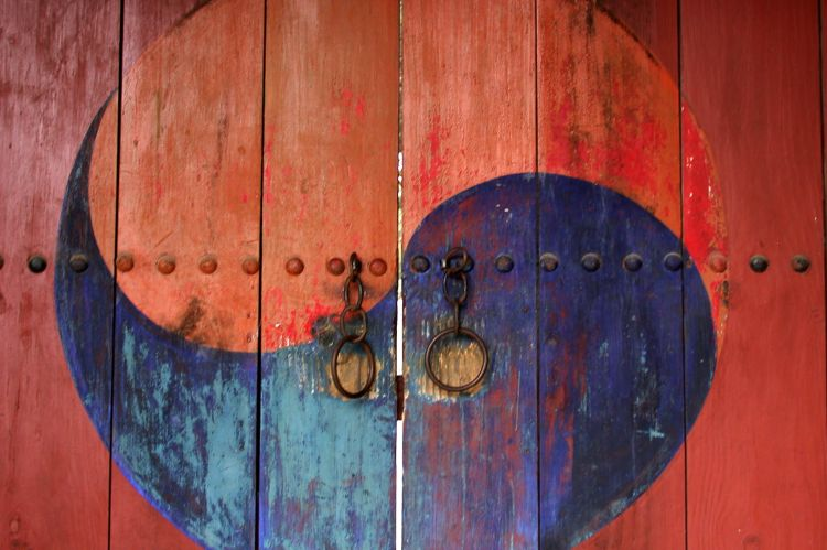 Yin Yang design on Daoist Temple Door